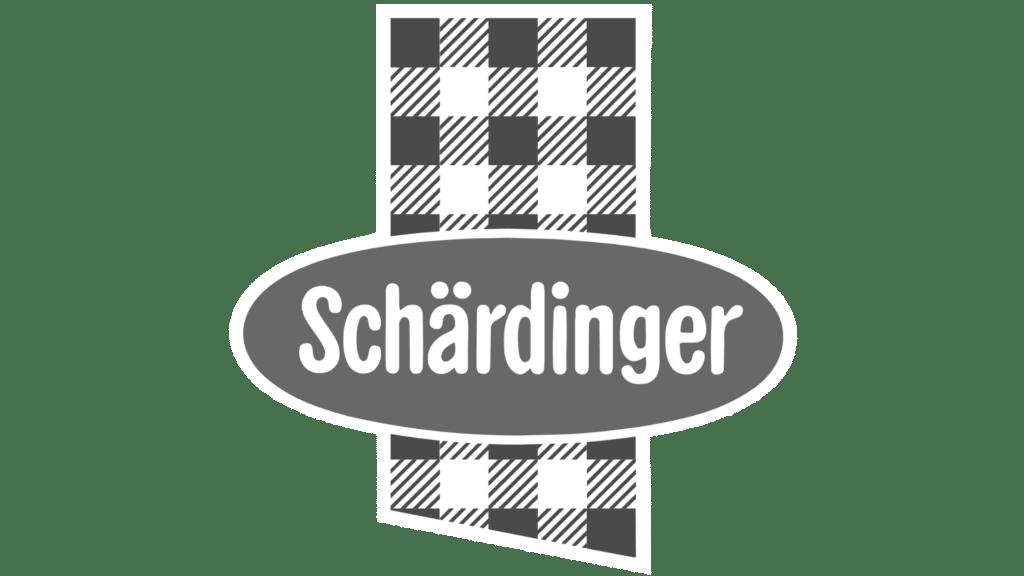 Schärdinger Logo schwarz/weiß