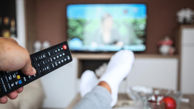 Stockfoto – TV- oder Online-Werbung