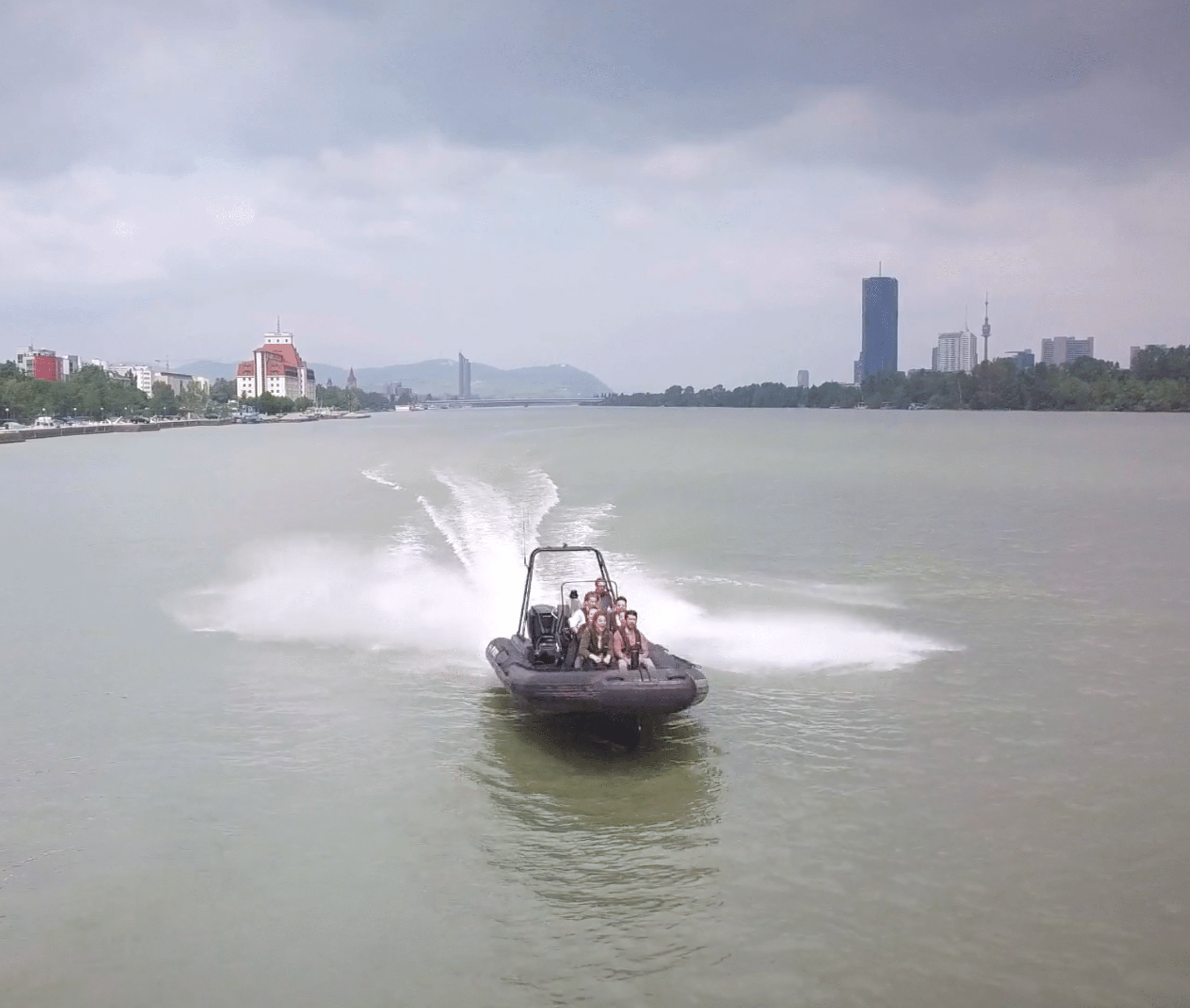 On a boat – Donau – Wien